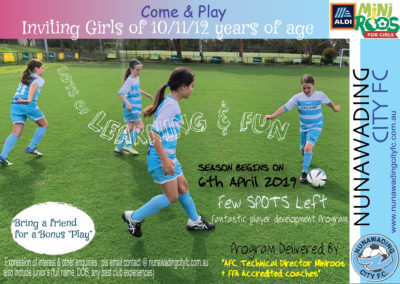 come & play girls 10, 11 & 12